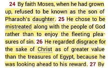 Hebrews 11-24-26