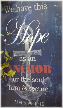 Hebrews 6:19 plaque