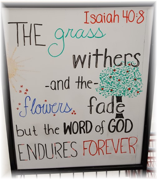 Good's Store Scripture sign 9/14/17