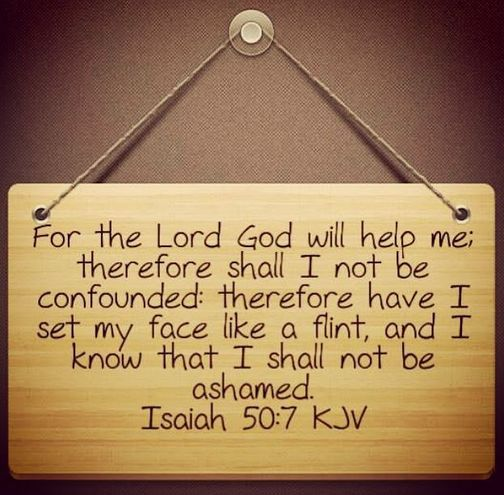 Isaiah 50:7