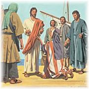 Jairus at feet of Jesus