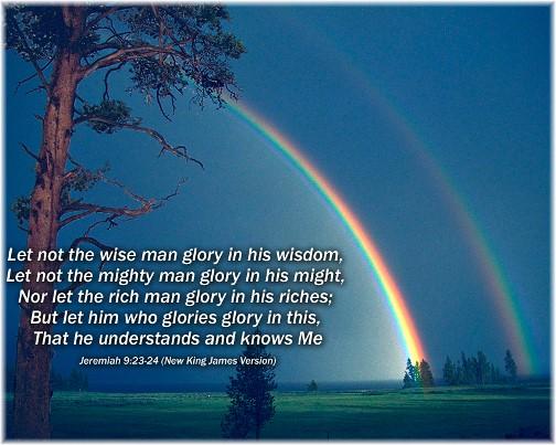 Jeremiah 9:23,24