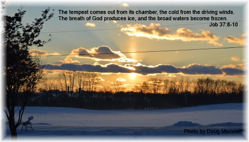 Scripture verse with sunset 1/30/15 Click to enlarge (Photo by Doug Maxwell)