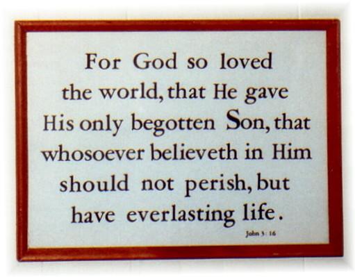 John 3:16 on Kember print