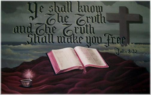 Mural with John 8:32