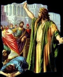 Jonah preaching in Ninevah