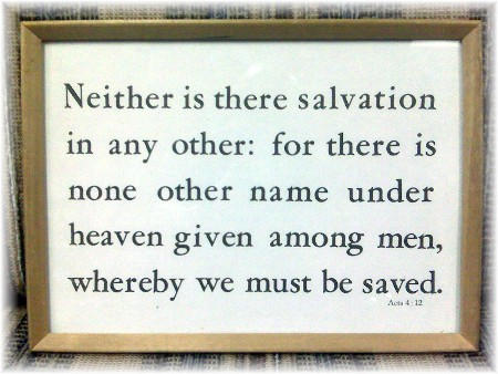 Acts 4:12 Kember print