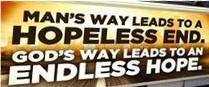 Man's way/God's way