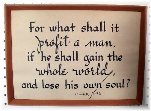 Mark 8:36 Kember print