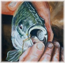 Fish with coin in mouth