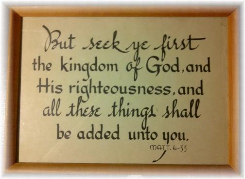 Matthew 6:33, Walter Kember print