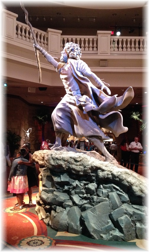 Moses statue at Sight and Sound Theater foyer in Lancaster PA