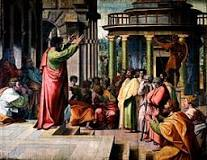 Paul preaching in Athens