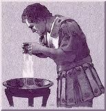 Pilate washing hands