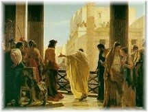 Christ with Pilate at trial
