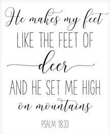 Psqalm 18:33