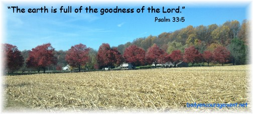 Psalm 33:5 with Lancaster County rural scene (Click  for larger view)