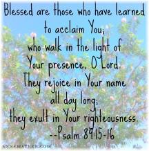 Psalm 89:15,16