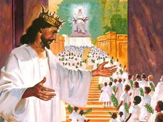 Revelation 7:9 around throne of God
