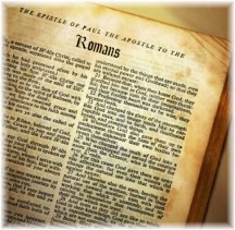 Romans 1 page from Bible