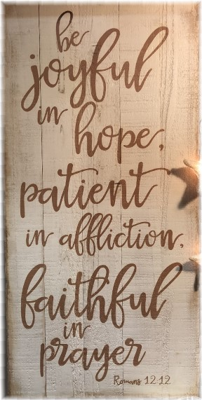 Romans 12:12 artwork