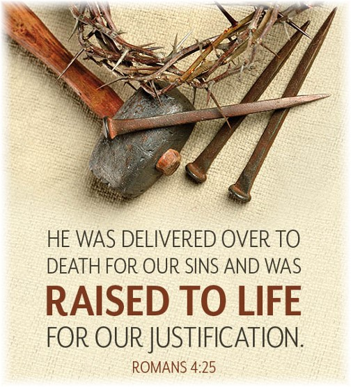 Romans 4:25 (Hobby Lobby Easter ad)