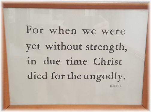 Romans 5:6 (Kember print)