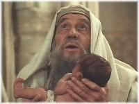Simeon holding Jesus