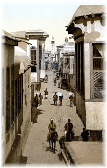 Straight Street in Damascus c1900