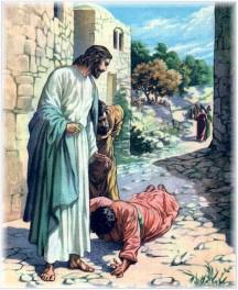 Thankful healed leper