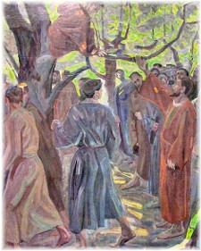 Zaccheus in tree