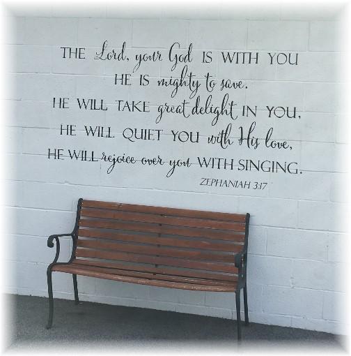 Scripture verse on garage 10/25/17