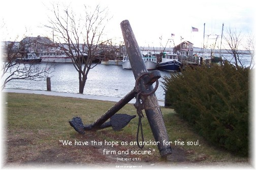 Anchor in Plymouth Harbor