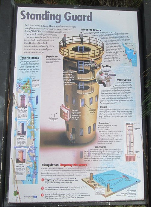 Delaware lookout tower plaque