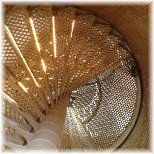 Cape May lighthouse spiral stairs 7/15/14