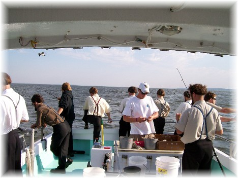 Fishing trip on Chesapeake Bay 9/8/10