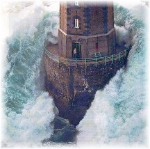 Christ is our refuge lighthouse
