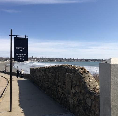 Cliff walk entrance, Newport, RI