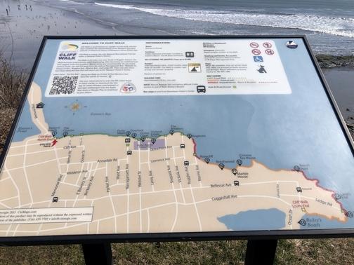 Cliff walk map, Newport, RI (Click to enlarge)