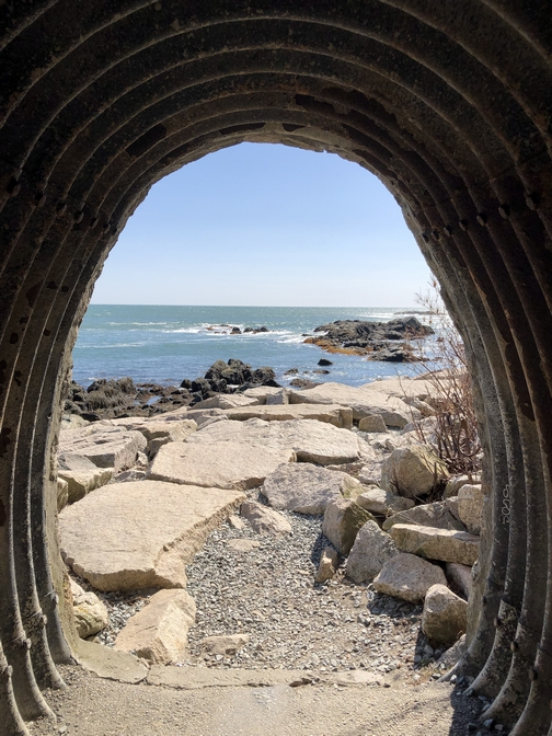 Cliff walk tunnel view, Newport, RI