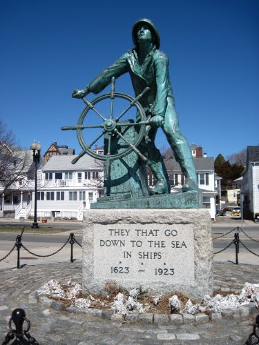 Fisherman statue Gloucester, Massachusetts