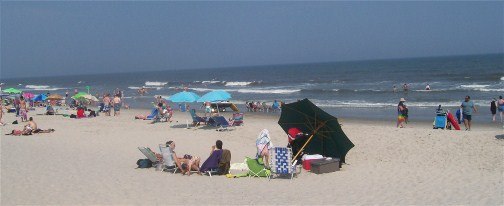 Ocean City NJ beach 7/18/12
