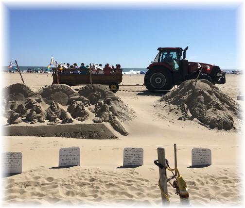 Ocean City MD sand sculpure & hayride 9/23/17