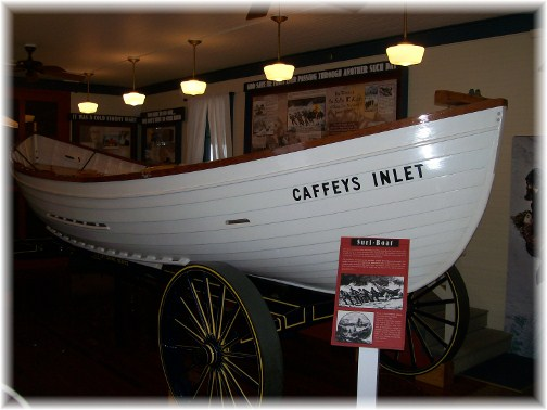 Boat in lifesaving museum in Ocean City MD