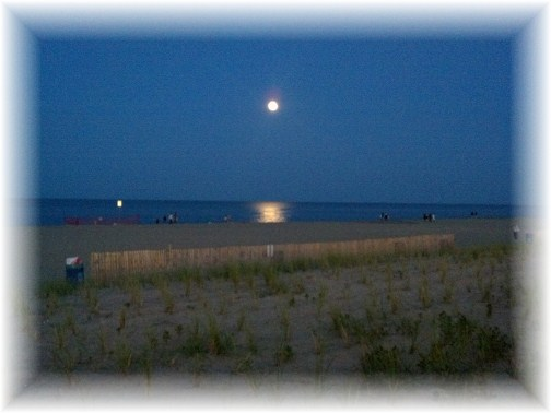 Moon over Rehoboth Beach DE