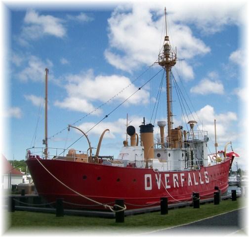 Overfalls Lightship, Lewes Delaware