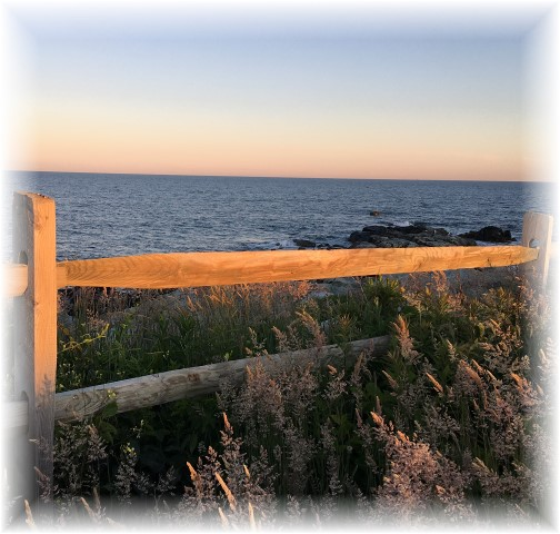 Split rail fence view on Sachuest Point, Rhode Island 6/17/16