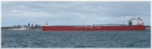 Ship on Saint Lawrence Seaway