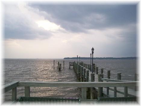 Long pier on Sandy Cove 5/14/10
