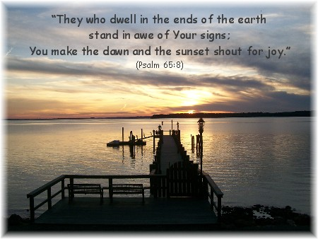 Sunset On Chesapeake Bay with Psalm 65:8